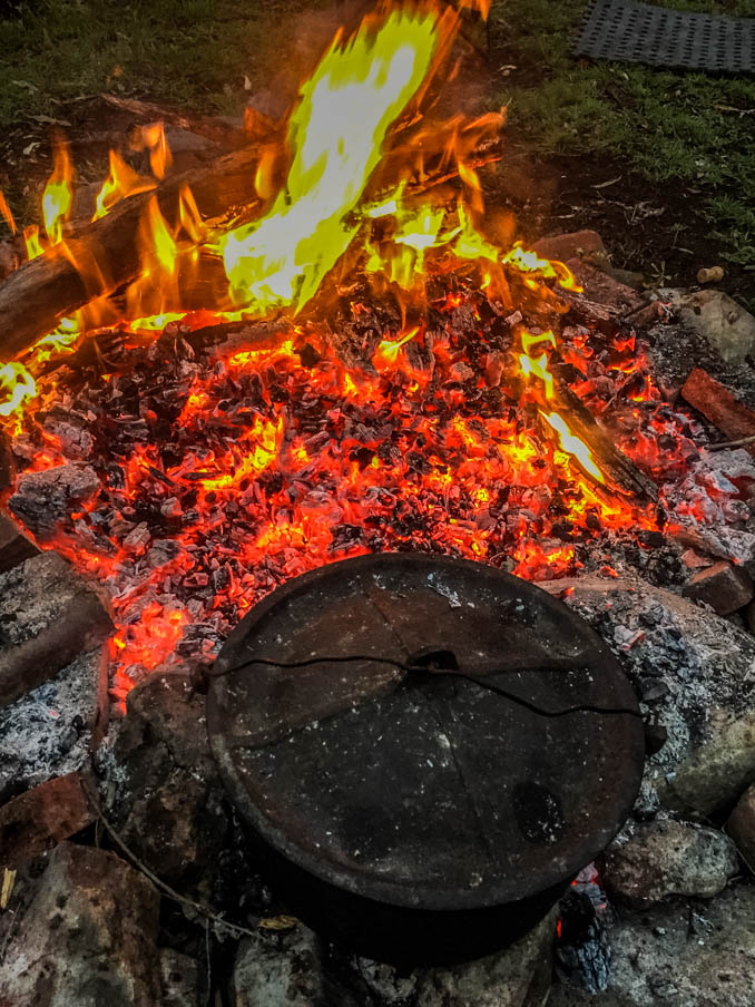 camp oven fire