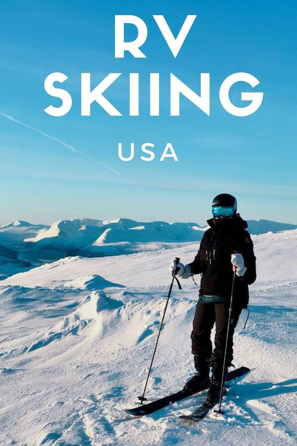 rv skiing - using an rv for skiing in usa